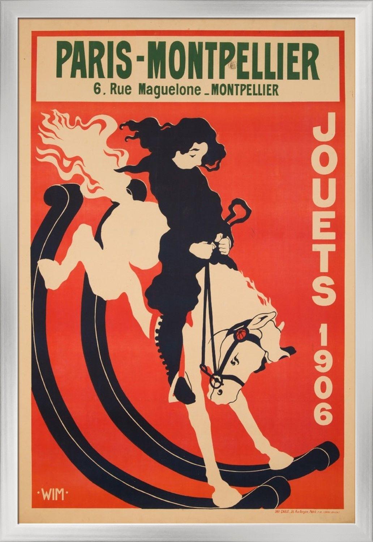 France Paris Montpellier Artist Wim C 1906 Vintage Advertisement 24x36 Giclee Art Print Gal Vintage Advertisement Giclee Art Print Stretch Canvas
