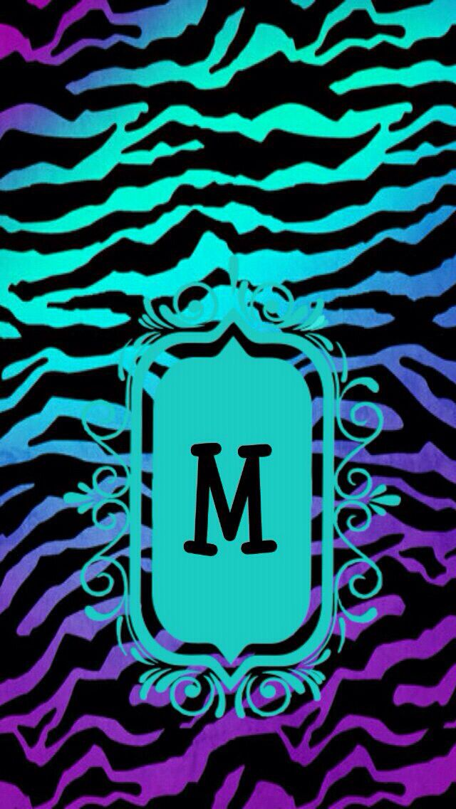 letter m with a cool zebra background for iphone iphone wp vol 1