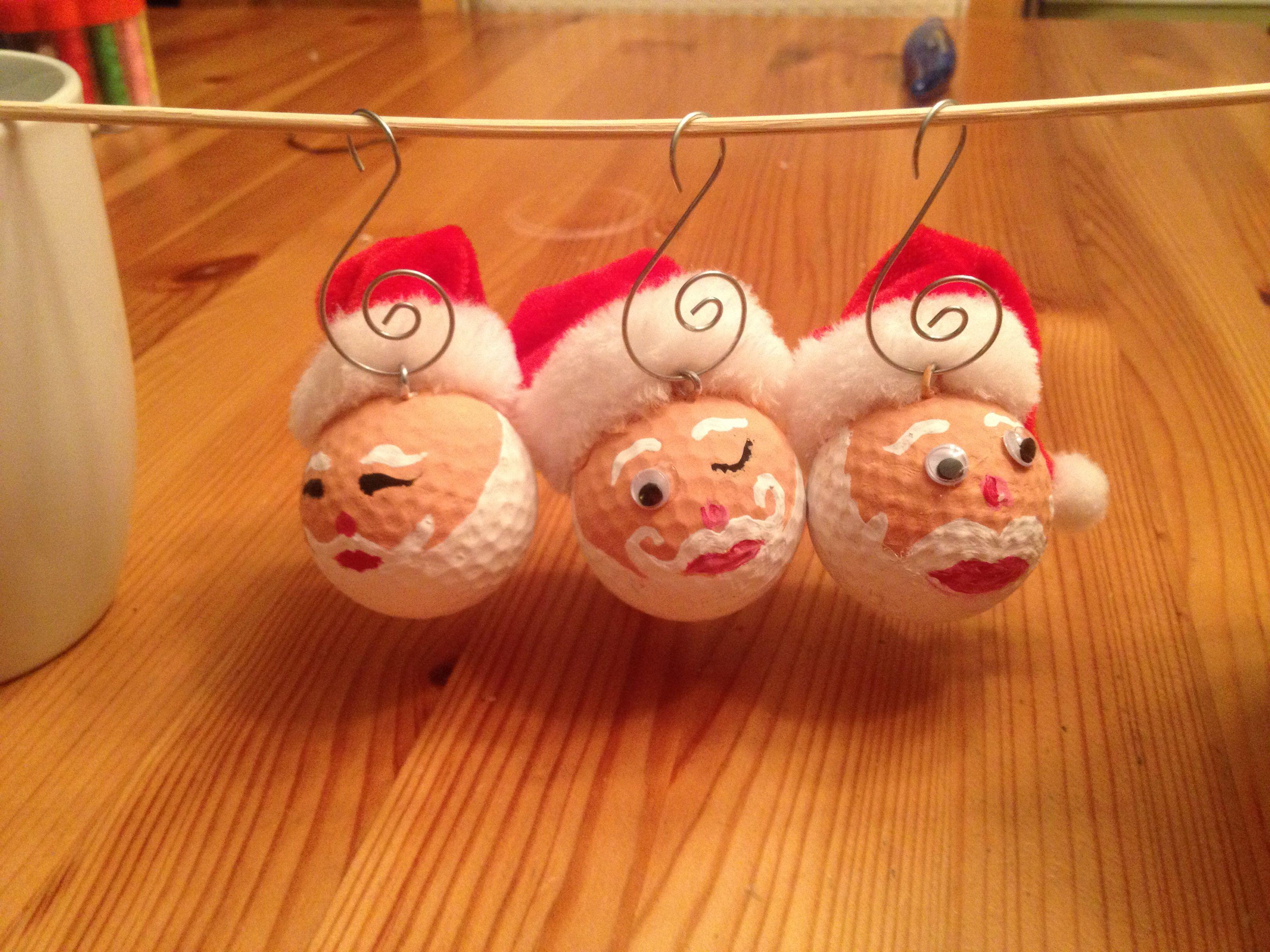Weihnachtsmann-Deko aus alten Golfbällen #kgc #golfball ...