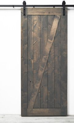 Wayfair Hobson Wood Single Panel Interior Barn Door. #ad