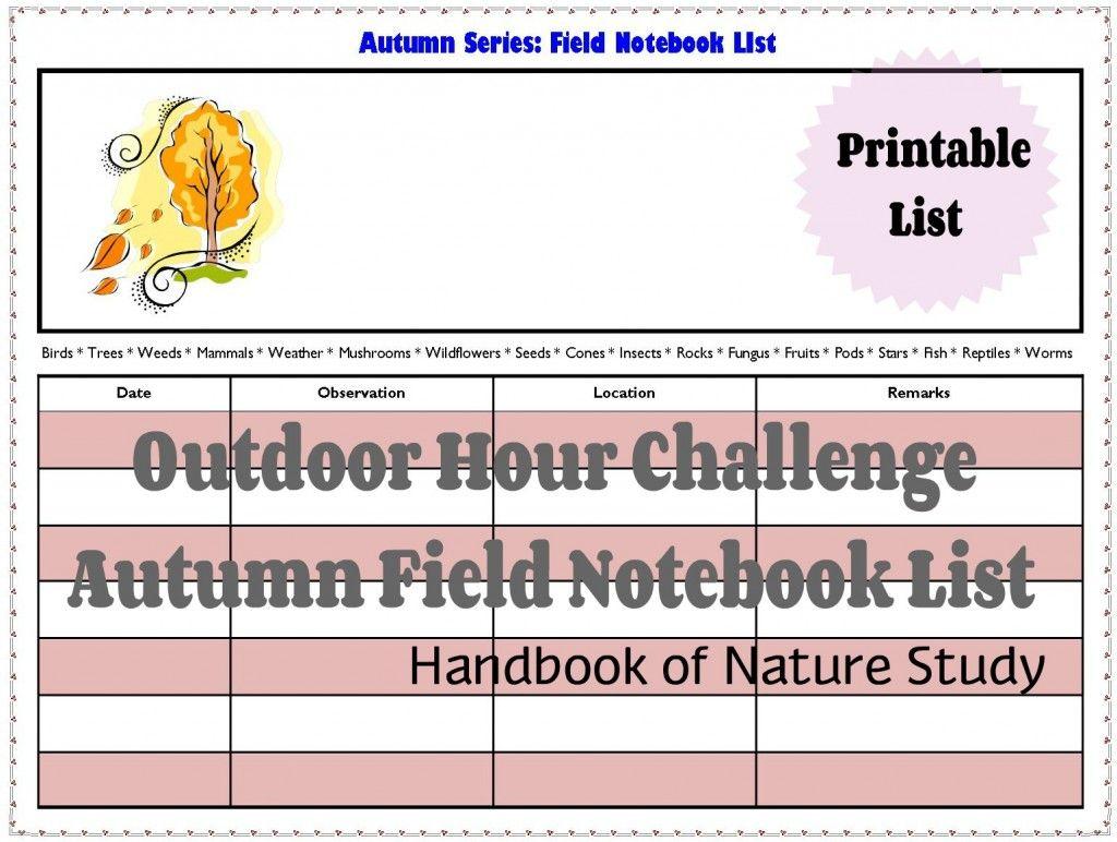 Ohc Autumn Field Notebook List