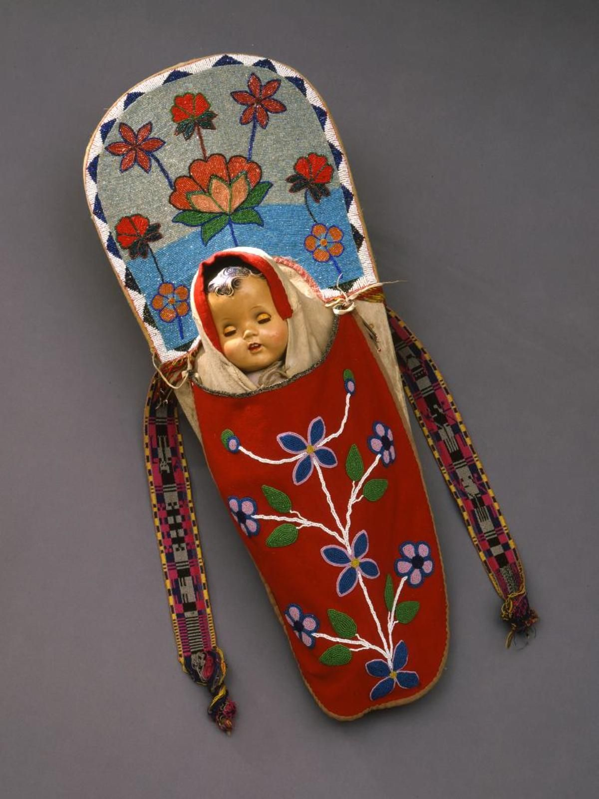 Doll toy cradleboard Salish (With images) Baby cradle