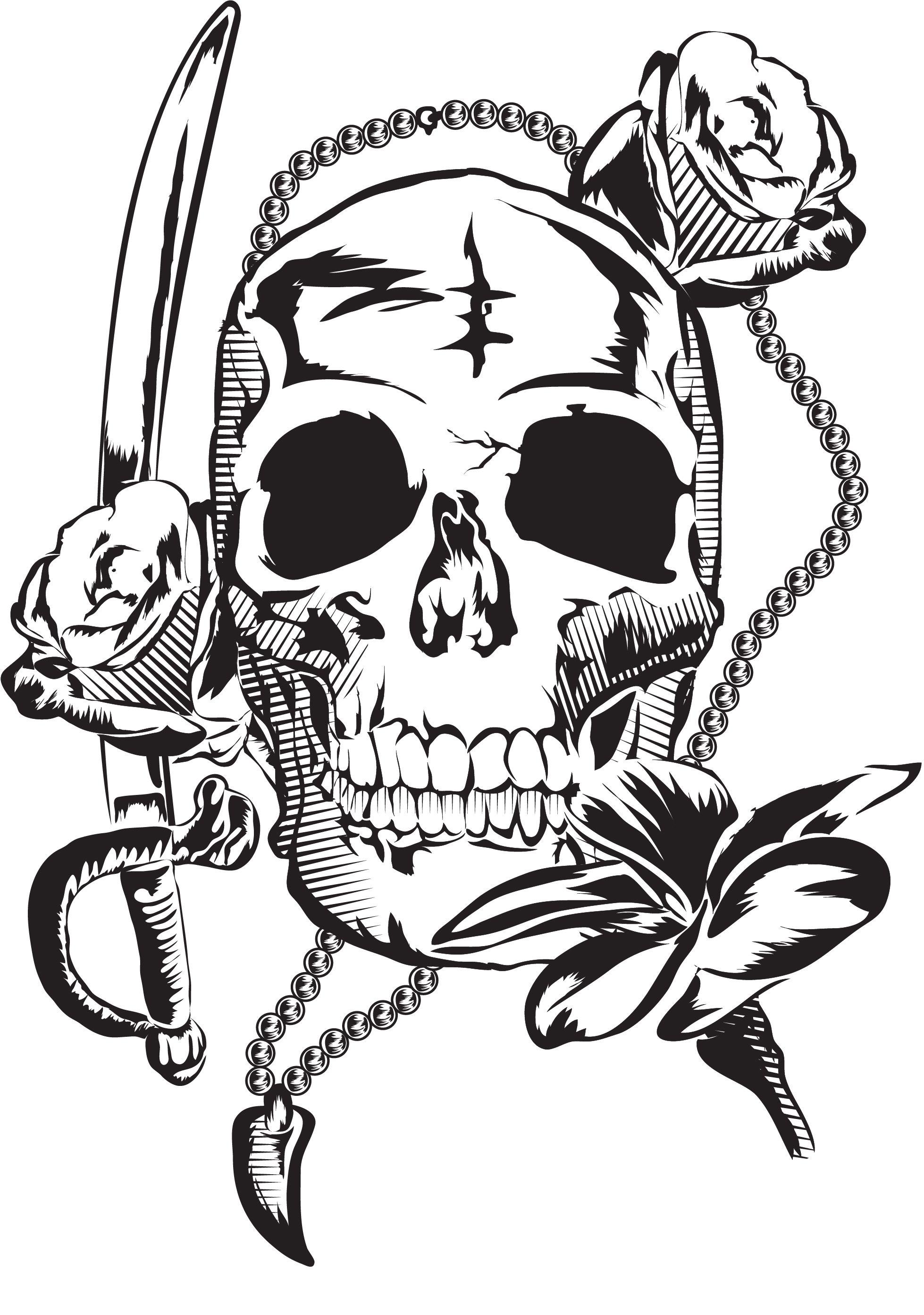 Pirate skull & roses   Skull wallpaper, Skull, Pirate skull