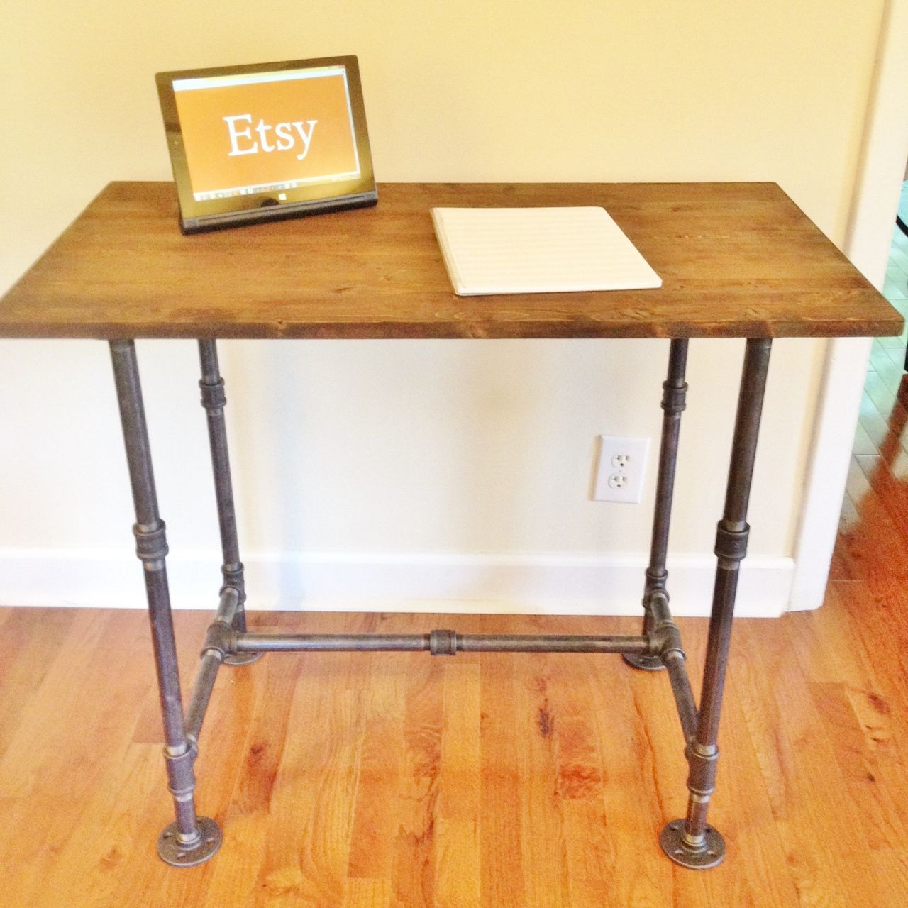 Hand Made Desk industrial style steel pipe handmade desk for sale on etsy