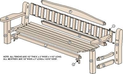 Modren Garden Bench Plans O And Design Ideas