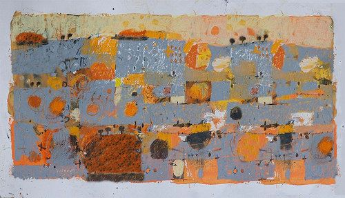 Paul Balmer - Landscape in grey and orange