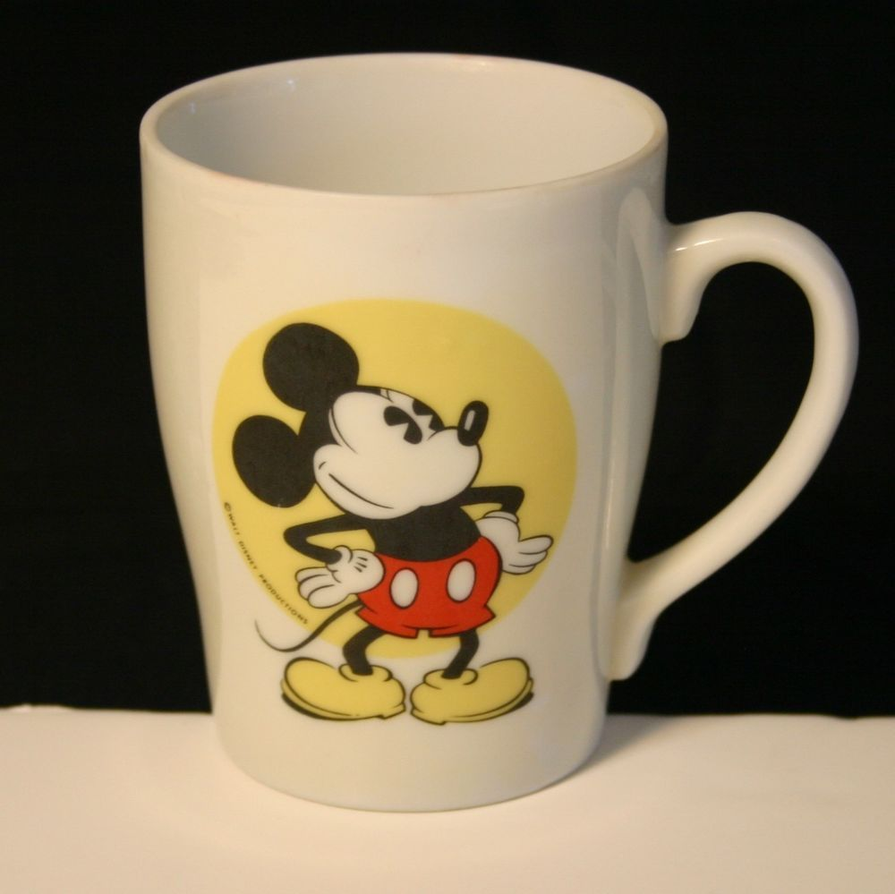 Exceptionnel Walt Disney Productions Mickey Mouse 8 oz Coffee Mug Tea Cup Vtg  XL45