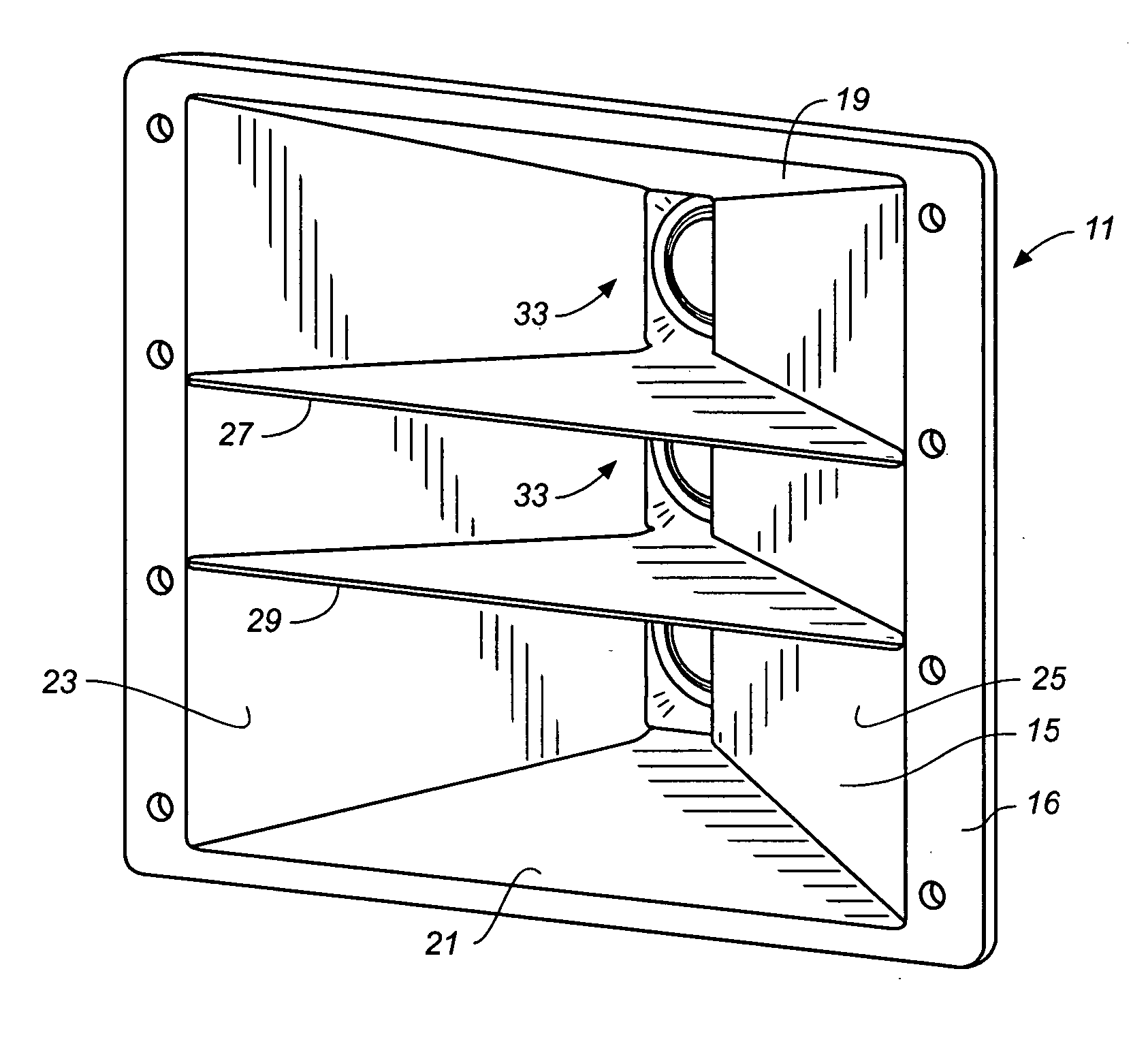 Flared Loudspeaker Port Patent