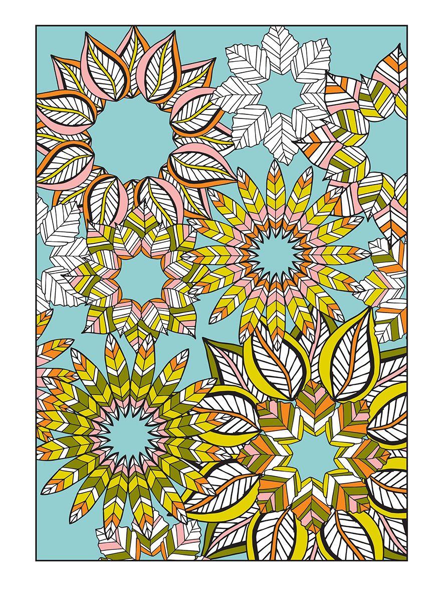 Flower Designs I Create Coloring Books To Stimulate Creativity BoredPanda