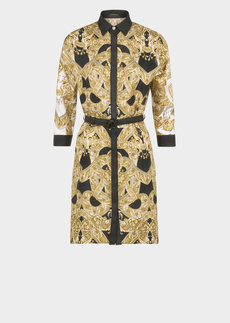 7925575ad00d3f Versace Barocco Istante Silk Shirt Dress for Women