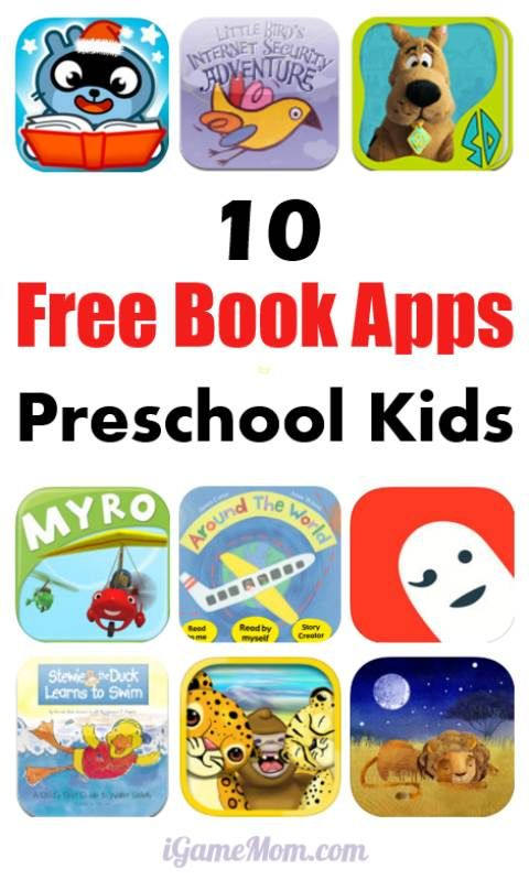 10 FREE Book Apps for Preschool Kids Educational apps