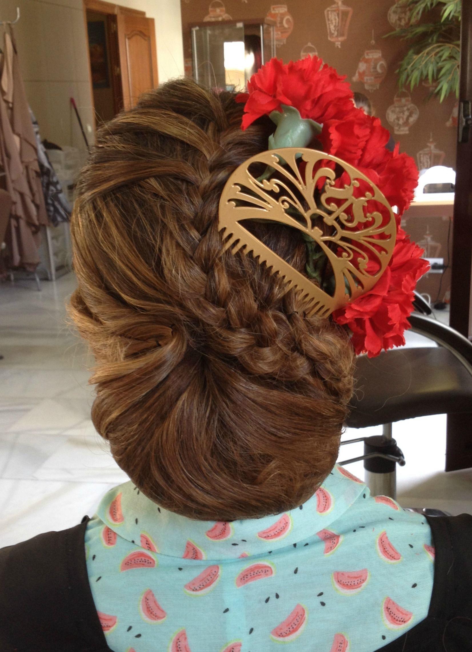Encantador peinados feria Fotos de estilo de color de pelo - Recogido Feria de Jerez 2015   Peinados españoles, Pelo ...