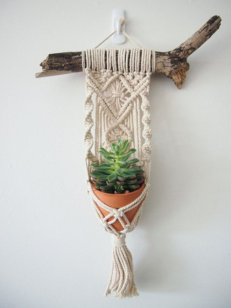 Photo of This is a beautiful little Macrame Plant Hanger that … #the #this …