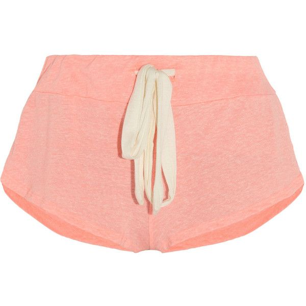 Eberjey Heather neon jersey pajama shorts (€28) ❤ liked on Polyvore featuring intimates, sleepwear, pajamas, shorts, bottoms, pijamas, pink, eberjey pajamas, pink pajamas and eberjey sleepwear