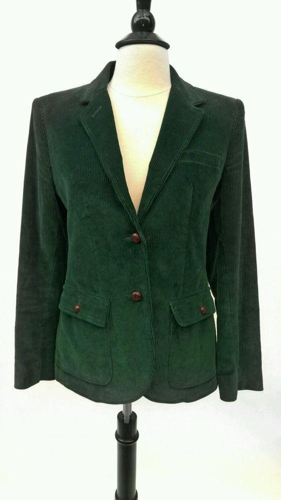 Vintage THE VILLAGER Green Corduroy Blazer Jacket Size 4 | Shop the Look