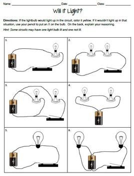 light ray diagram worksheets parallel outlet wiring electric circuits worksheets. i like the set up. kids can draw rays from each bulb to ...