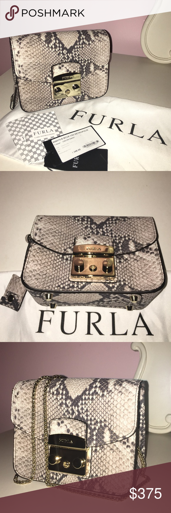 36ce610cc229 Limited Edition Furla Metropolis Mini Bag The chicest mini bag on the market!  This limited