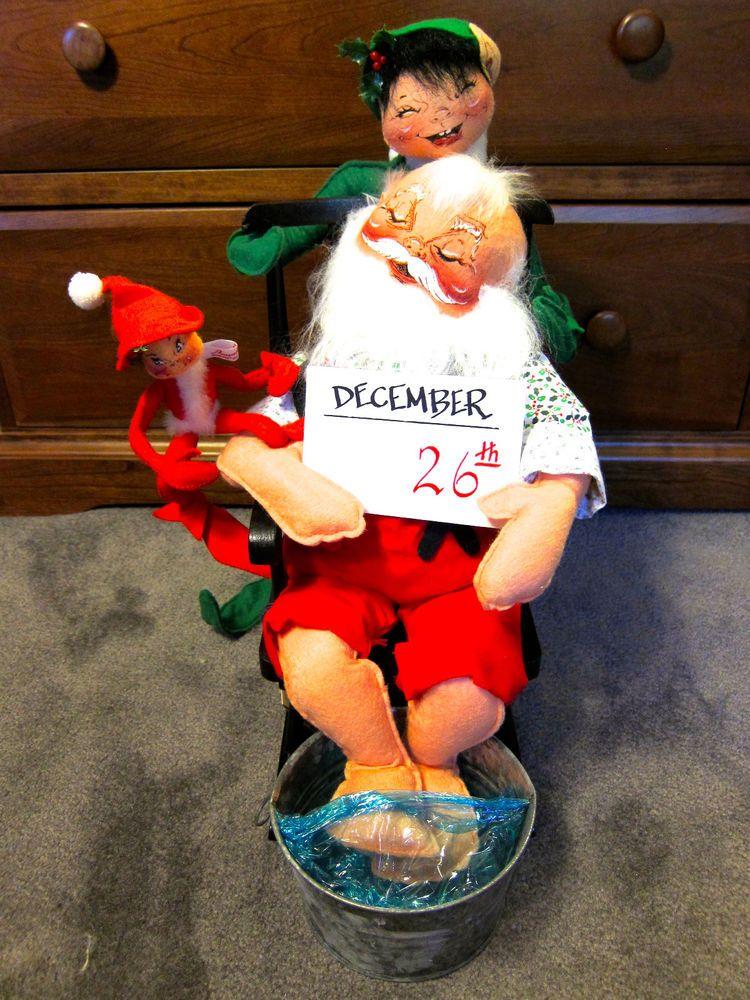 CUTE DECOR IDEA!... ANNALEE Doll Day After Christmas Santa Claus ...