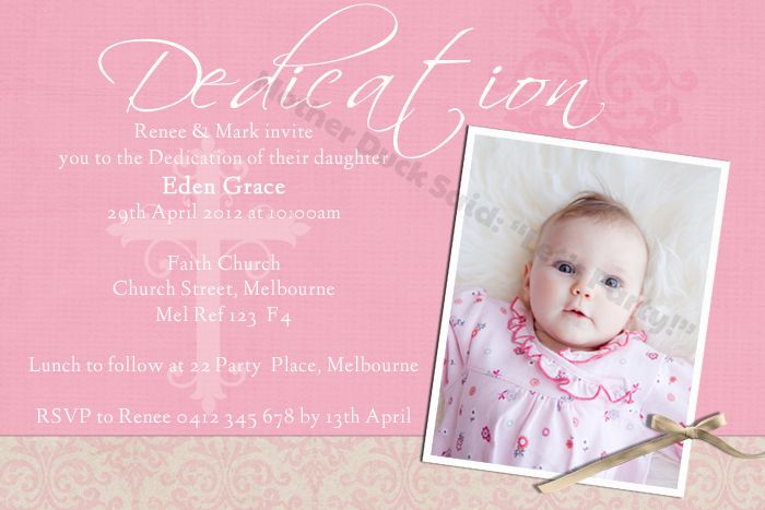 baby dedication invitation baptism invitation christening