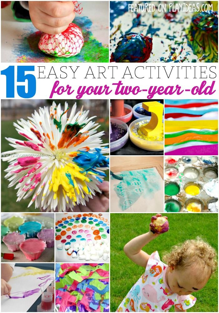 15 easy art activities for two year olds toddler for Arts and crafts for 2 year olds