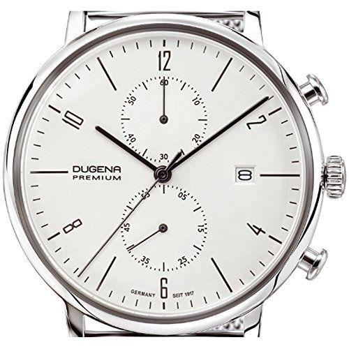 Dugena Herren-Armbanduhr DESSAU Chrono Chronograph Quarz Edelstahl 7090239: Amazon.de: Uhren