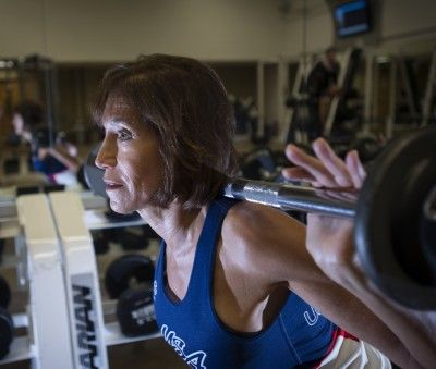 64 Year Old - Triathlete Nancy Avitabile has been competing in triathlons for 16 years.