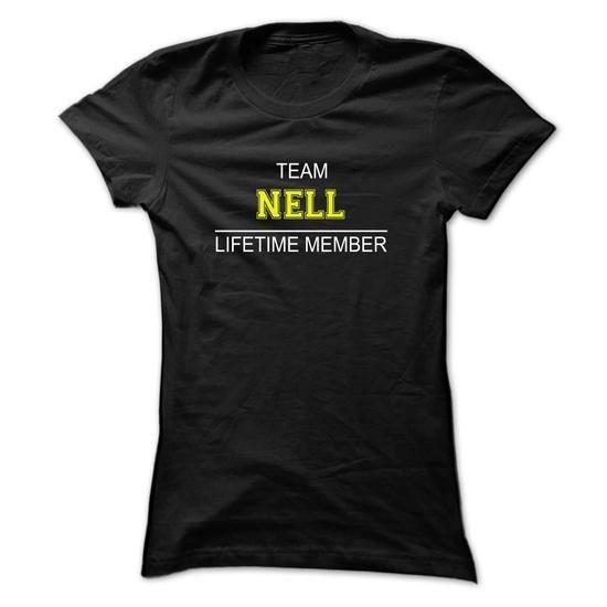 Team NELL Lifetime member - #tshirt skirt #sweater refashion. ACT QUICKLY => https://www.sunfrog.com/Names/Team-NELL-Lifetime-member-vqnvs-Ladies.html?68278