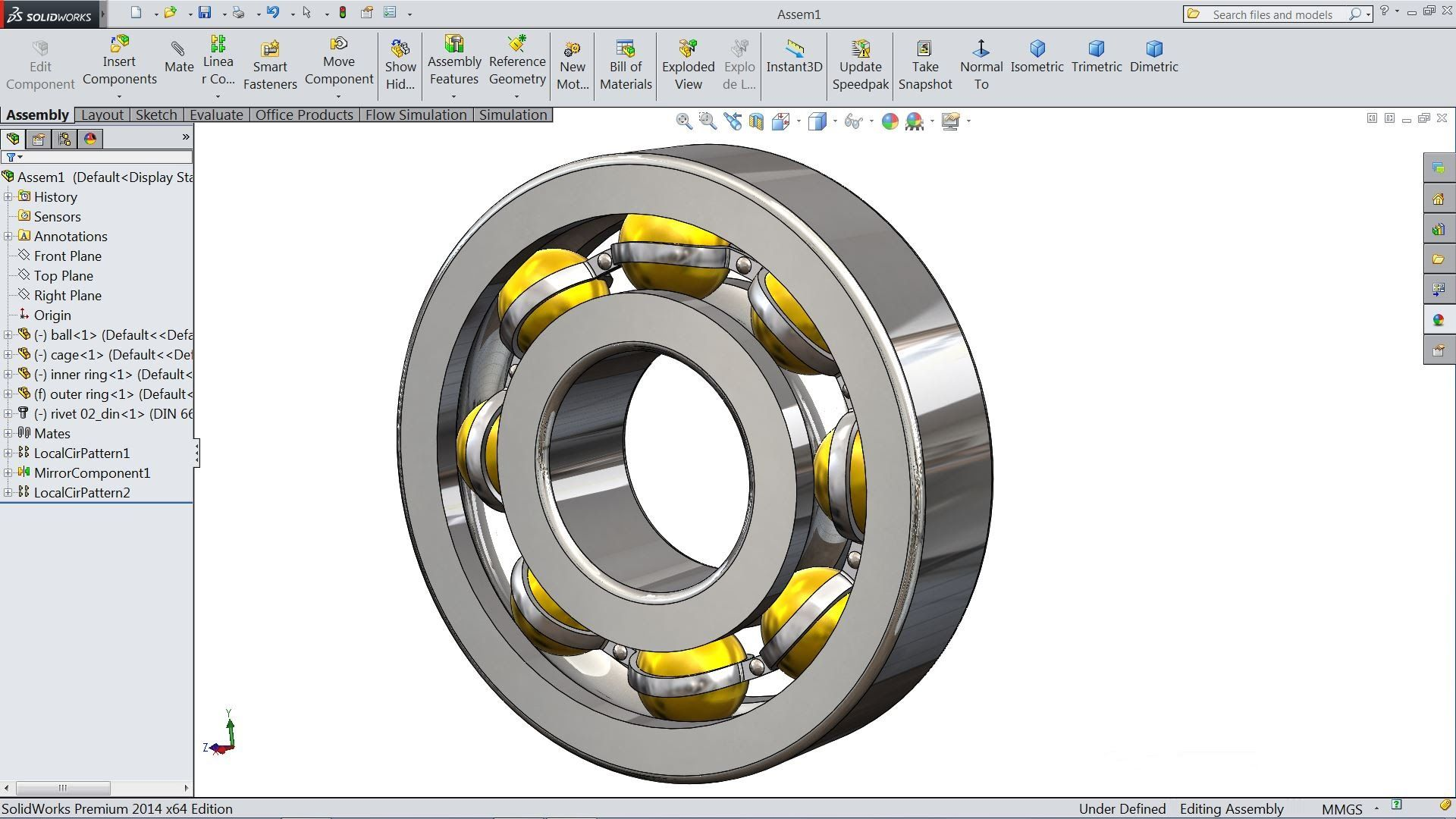 Bearing Puller Assembly Drawing : Solidworks tutorial design and assembly of ball bearing