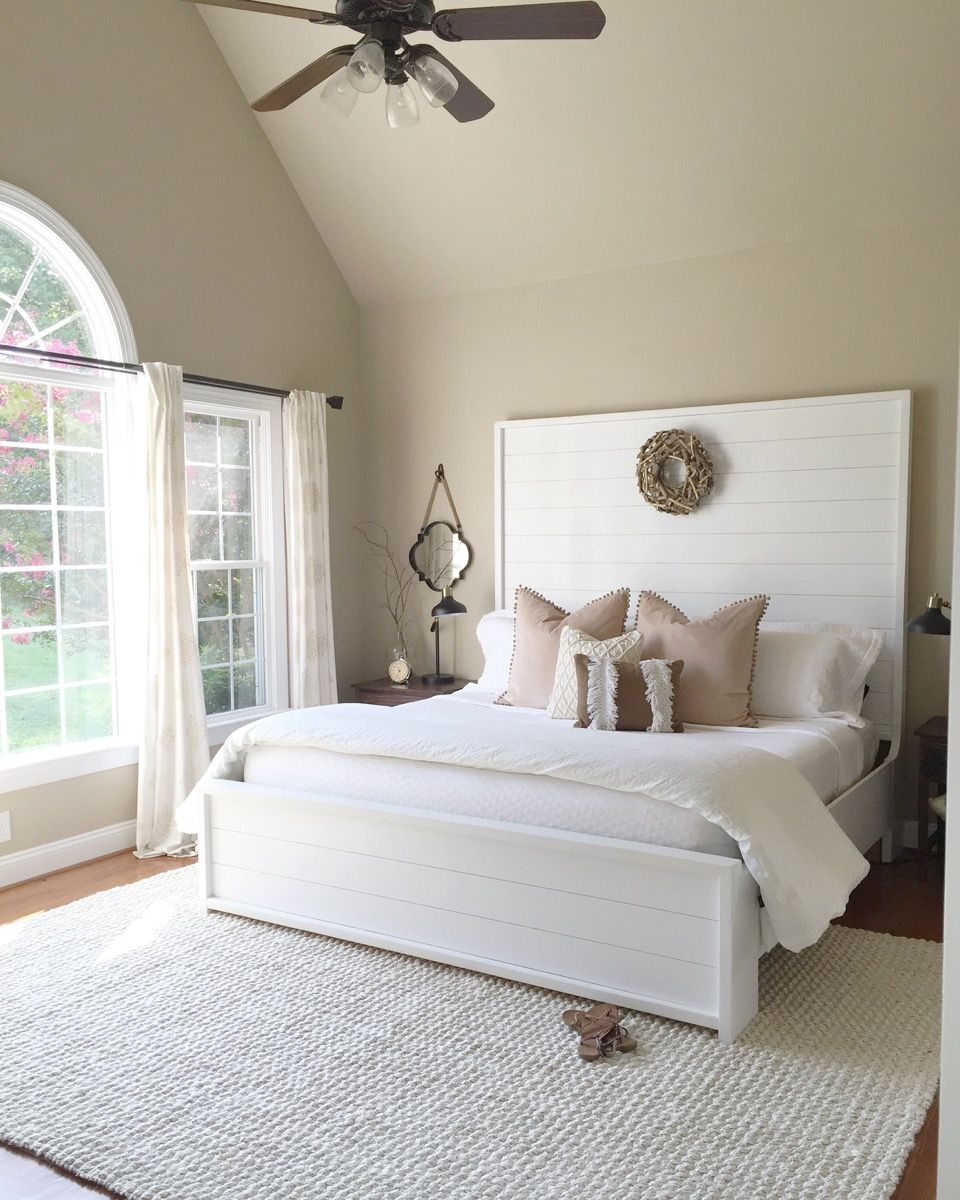 Shiplap Headboard This Is A MAYBE If Trevor Wont Let Me The Whole Wall Also Great For Emylee Room