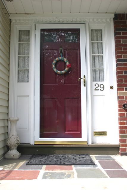 The Painted Door Curb Appeal House Front Door Front