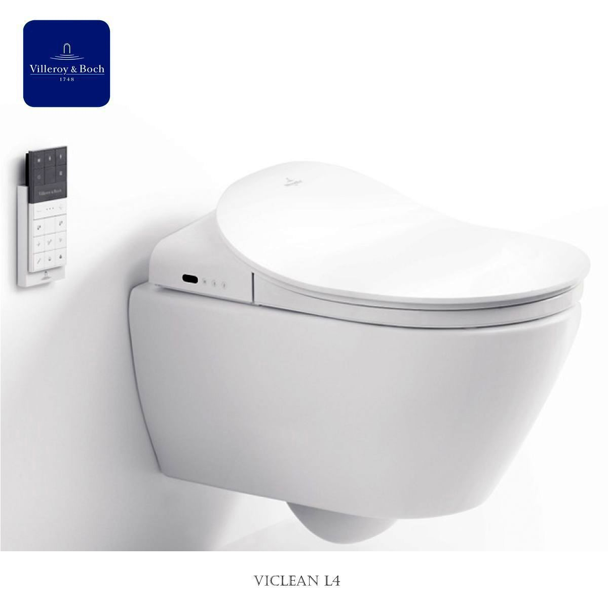 circular toilet seat uk. Villeroy  Boch ViClean Electronic Bidet Toilet Seat UK Bathrooms