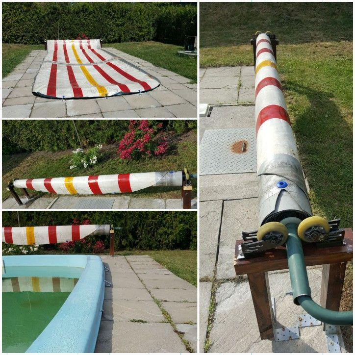 diy pool cover roller