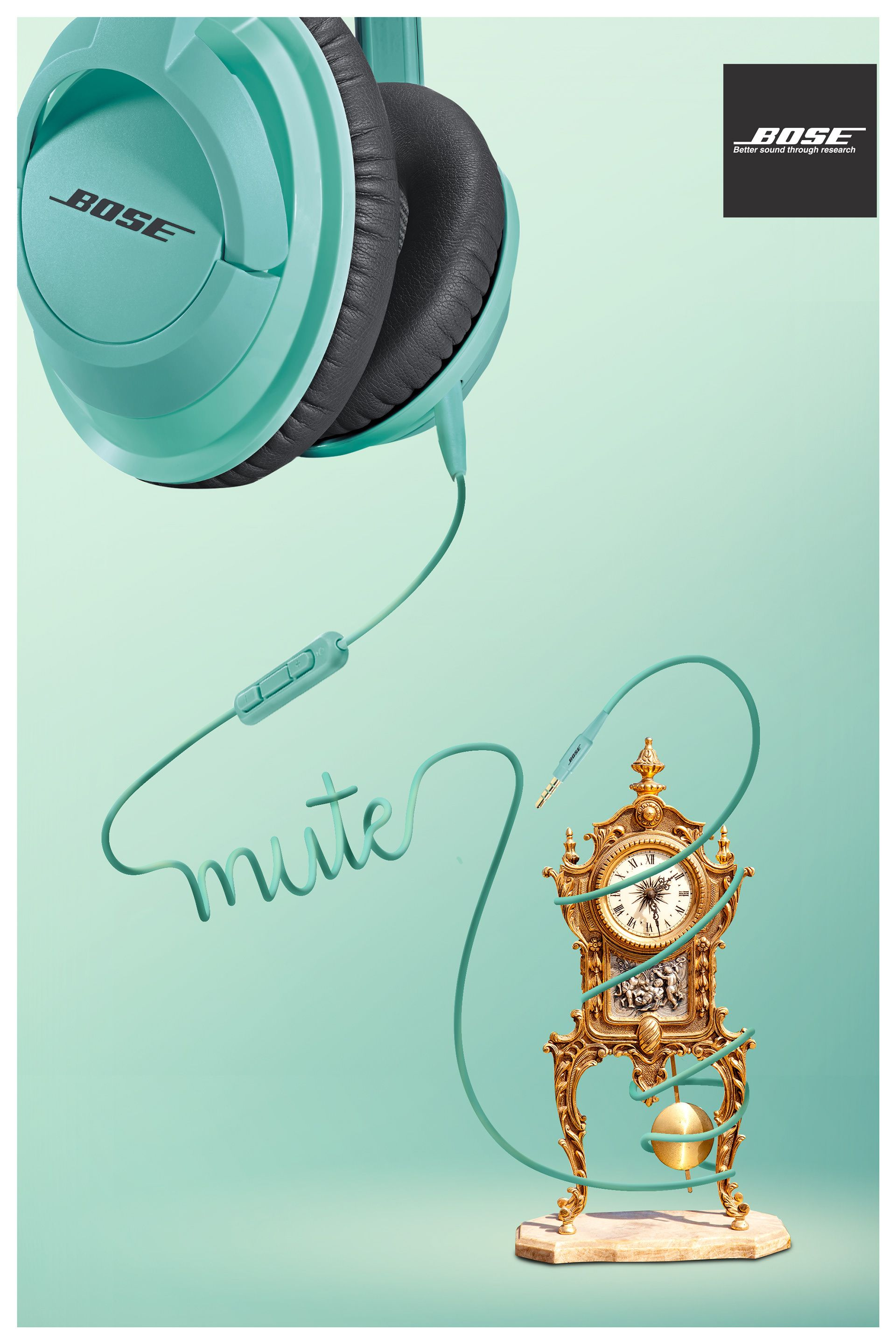 5c0a9400b71 Bose Noise Cancelling Headphones on Behance | Creative Campaign ...