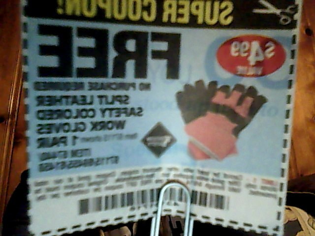 Free No Purchase Required Gloves Harbor Freight   coupons   Pinterest