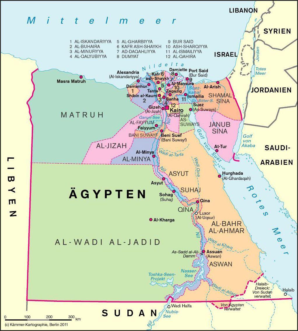 Landkarte Aegypten 4 Landkarte Kairo Arabische Sprache