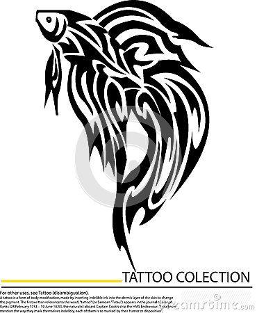 Betta Fish Tattoo   peixes-de-combate-do-betta-da-tatuagem-isolados-no-fundo-branco ...