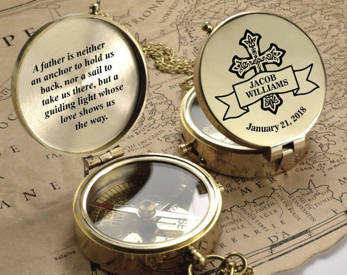 Personalized Compass Custom Engraved Compass First Holy