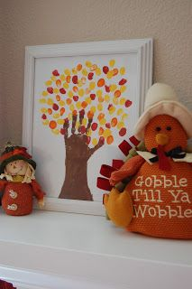 Fun Thanksgiving Art Projects Cute idea for the grandchildren to do! Craft time at Grandmama's!!