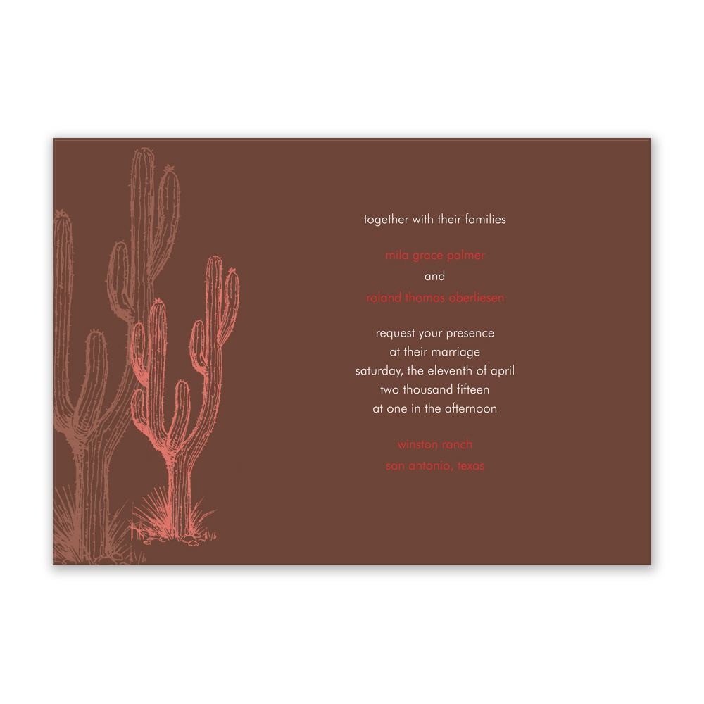 Cool Cactus www.einvite.com | Country Wedding Ideas | Pinterest ...