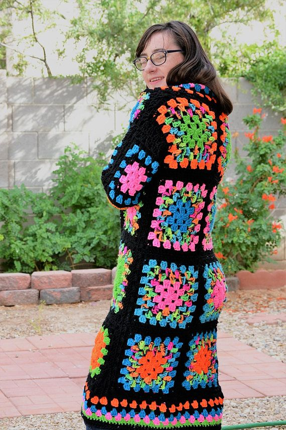 This listing is for the above pictured crochet granny square ...