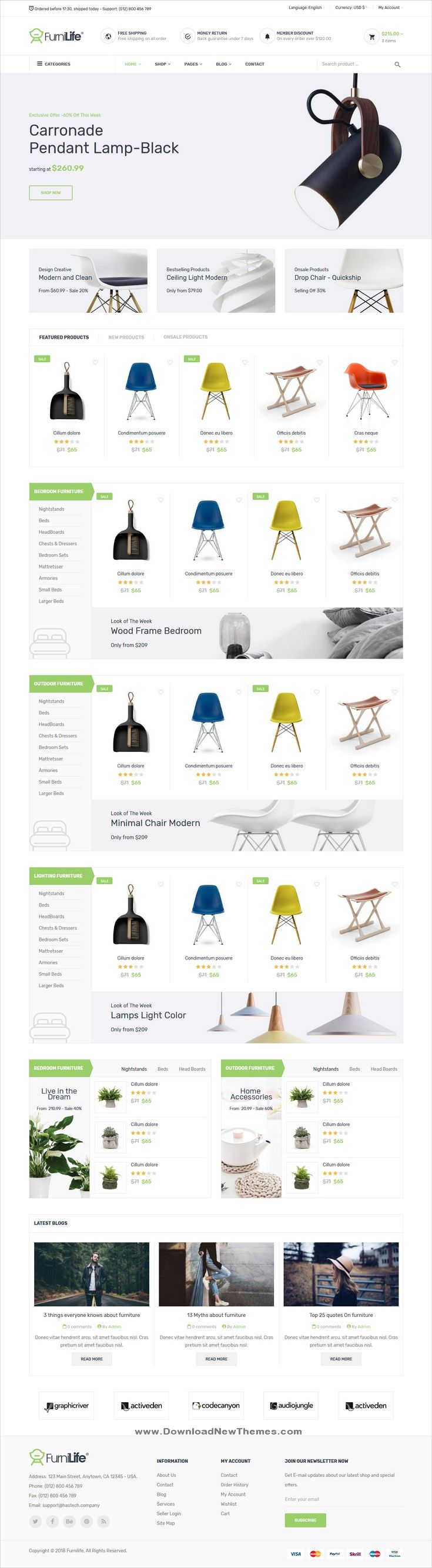 Furnilife is a clean and modern design 4in1 responsive