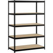 "Utility Shelves Walmart Classy Muscle Rack 48""w X 24""d X 72""h 5Shelf Steel Shelving Black  Bi Design Ideas"