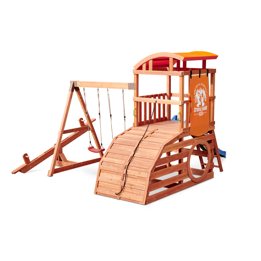 Real Wood Adventures Cottontail Hideaway Outdoor Playset Little Tikes Walmart Com In 2020 Playset Outdoor Wooden Playset Little Tikes
