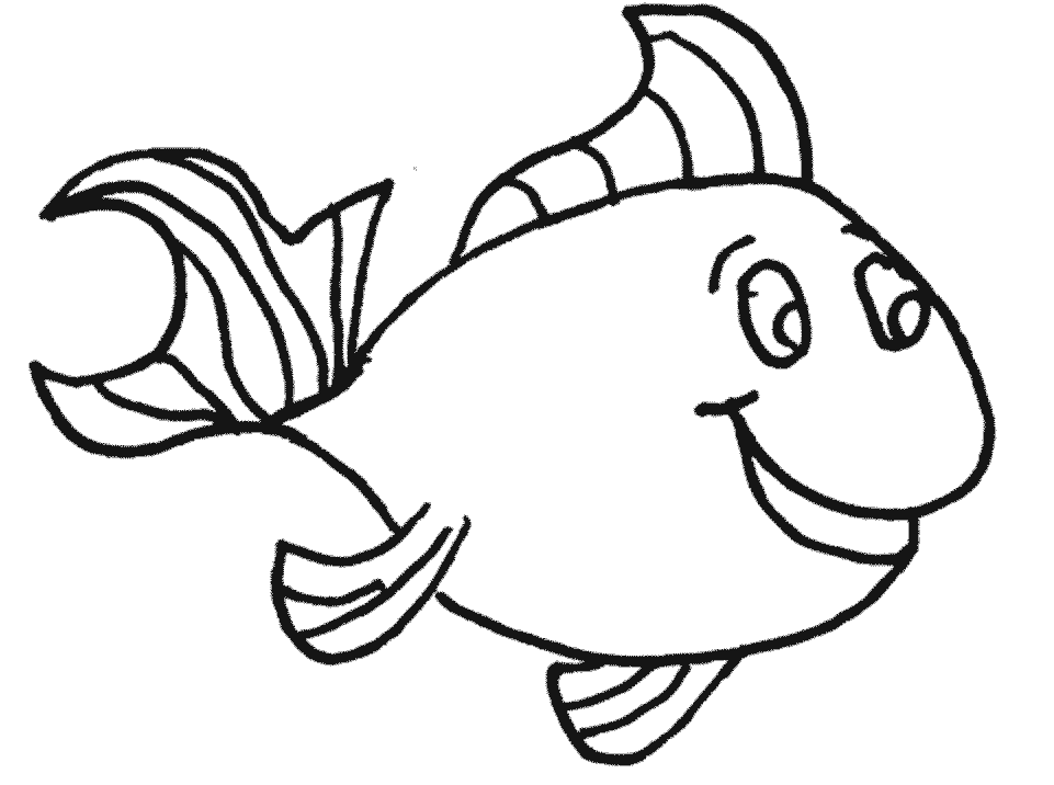 Pet Fishes Bowl Coloring Page Free Clip Art