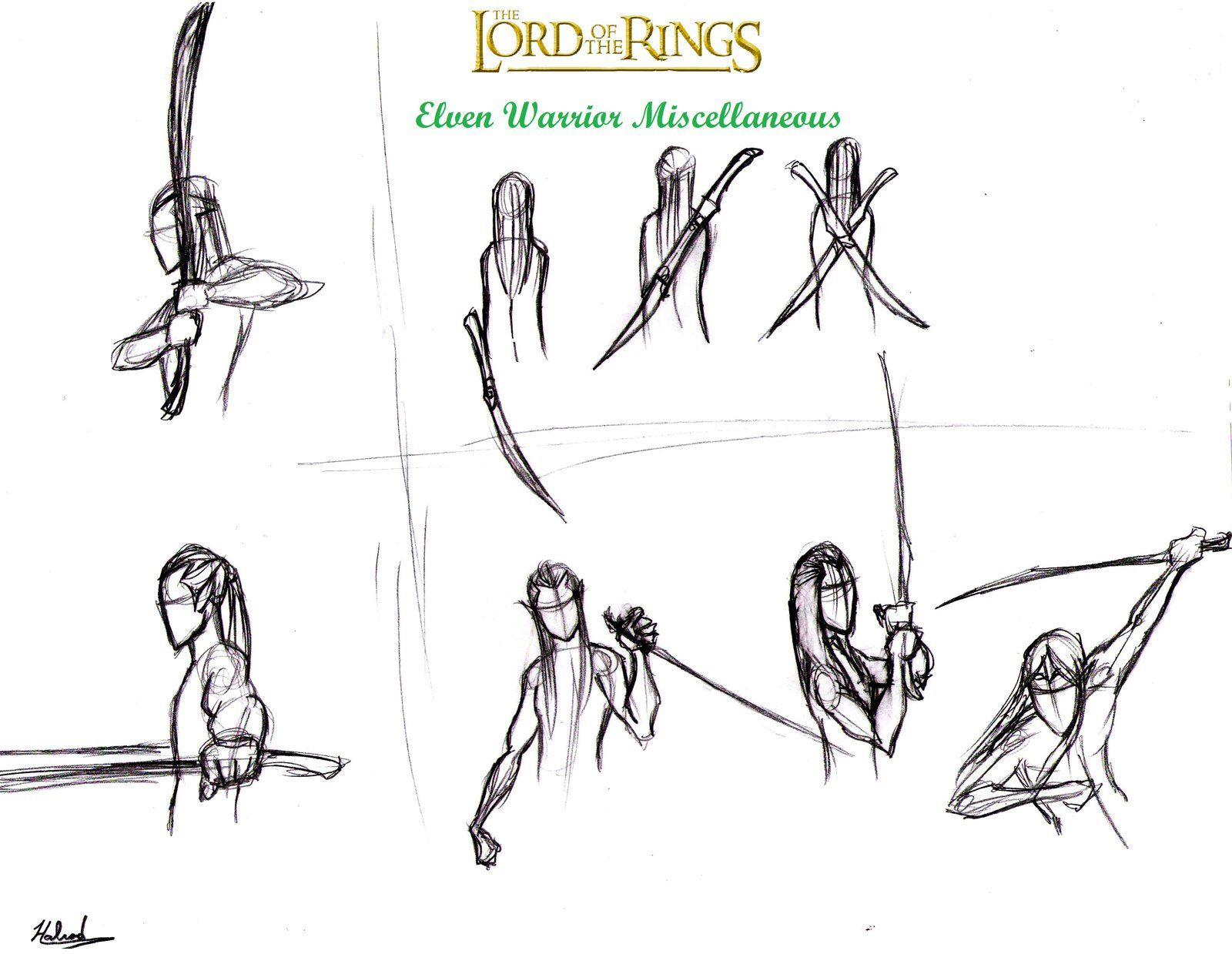 elf soldier drawings lotr - Google Search | L O T R ...
