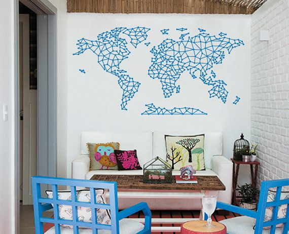 Geometrical world map decal home decor by worldmaps on etsy 9800 geometrical world map decal home decor by worldmaps on etsy 9800 gumiabroncs Gallery