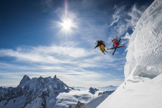 Salto esquiando