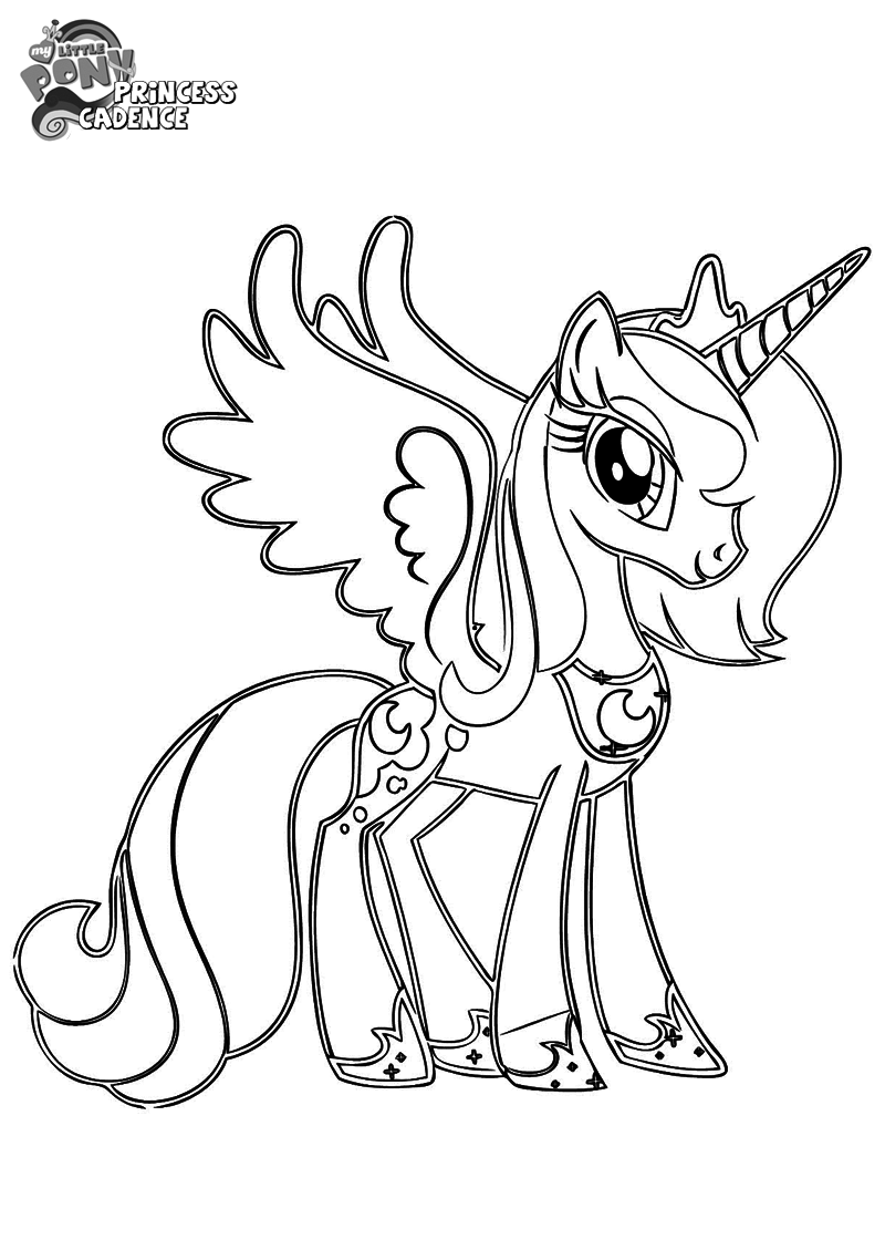 Princess Cadence Coloring Pages | Bratz Coloring Pages | MLP | Pinterest