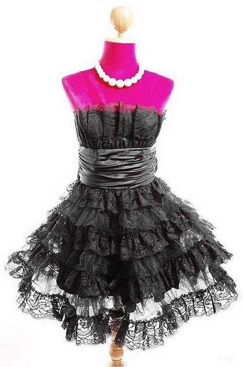 22dfefe08d Betsey Johnson Mini Tea Party Prom Dress - Black