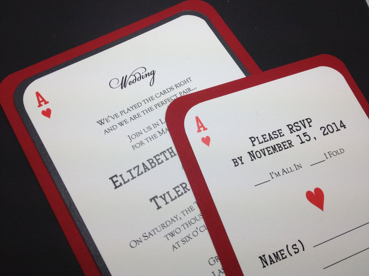 Ace of Hearts Casino Invitation | Wedding, Favors and Weddings
